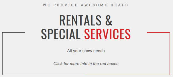 Rentals and Special Services